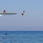 ギリシャ:ロドス島】このジャンプ台があるだけで、1年に1回はこの海に行きたくなる!